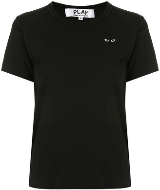 Comme des Garcons heart embroidered slim fit T-shirt