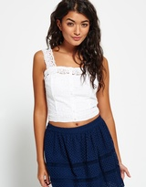 Superdry Lacy Mix Crop Top