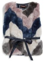 Imoga Toddler's & Little Girl's Multicolored Faux Fur Vest