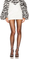 ATTICO Leather Butterfly Mini Skirt in White | FWRD