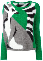Max Mara contrast jumper - women - Cotton/Polyamide - M