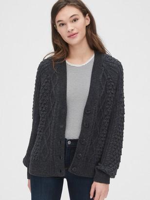 Gap Bobble-Stitch Raglan Cardigan Sweater