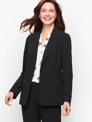 Talbots Stretch Crepe Single Button Blazer
