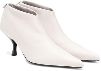 The Row Bourgeoise leather ankle boots