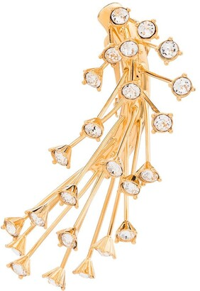 Panconesi Crystal-Embellished Clip-On Pendant Earrings