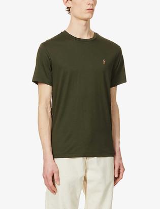 Polo Ralph Lauren Logo-embroidered custom slim-fit Pima-cotton T-shirt