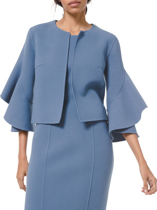 Michael Kors Collection Double-Face Ruffle-Sleeve Cardi Jacket