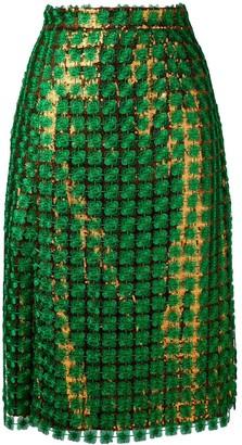 Marco De Vincenzo Contrast Sequin Skirt