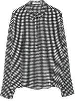 MANGO Check-pattern blouse