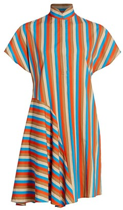 Akris Punto Gazebo Stripe Shirtdress