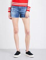 AG Jeans The Hailey boyfriend-fit mid-rise denim shorts