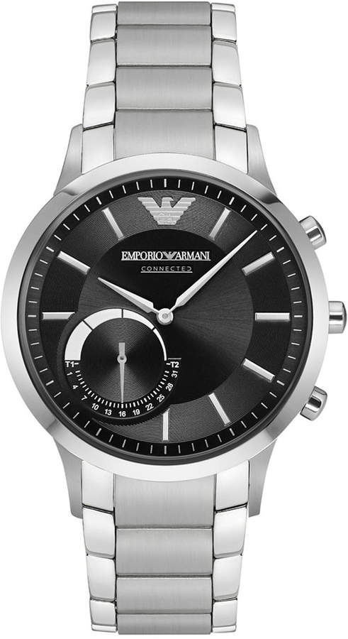 Emporio Armani Men's Stainless Steel Bracelet Hybrid Smart Watch 43mm ART3000