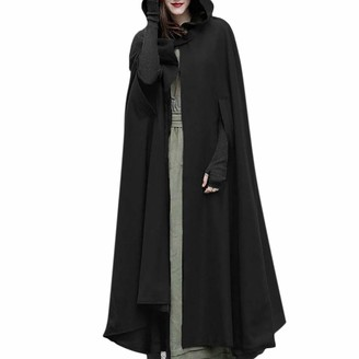 jieGorge Coat for Women Trench Coat Open Front Cardigan Jacket Coat Cape Cloak Poncho Plus