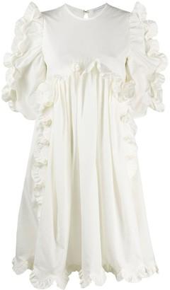Cecilie Bahnsen Ruffle-Trimmed Empire-Line Dress