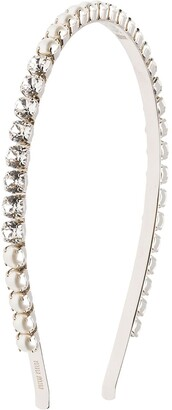 Miu Miu Pearl And Crystal Embellished Headband