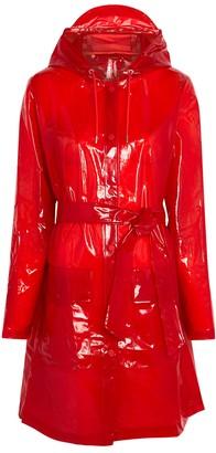 Rains Red sheer rubberised raincoat