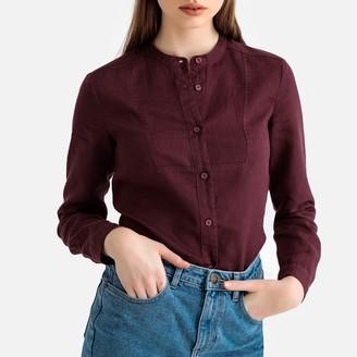La Redoute Collections Long-Sleeved Mandarin Collar Shirt in Linen