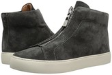 Frye Lena Zip High (Charcoal Soft Oiled Suede) Women's Lace up casual Shoes