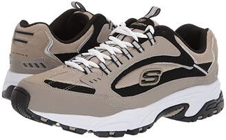 Skechers Stamina Cutback (Taupe/Black) Men's Lace up casual Shoes