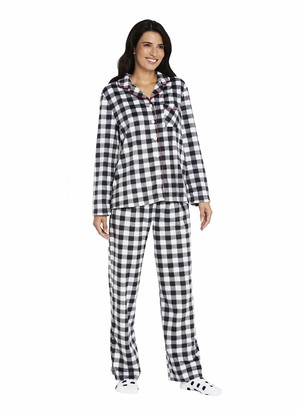 Karen Neuburger Women's Long Sleeve Minky Fleece Pajama Set PJ