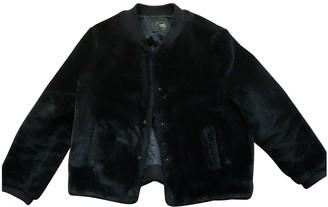 Des Petits Hauts Black Faux fur Leather Jacket for Women