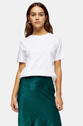 Topshop Womens Petite Love T-Shirt With Organic Cotton - Cream