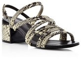 Robert Clergerie Eolia Strappy Mid Heel Sandals