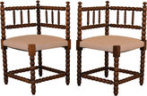 One Kings Lane Vintage 19th-C. French Corner Chairs, S/2