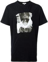 Les Benjamins seaming detail printed T-shirt