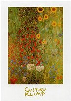 Gustav 1art1 Posters Klimt Poster Art Print - Cottage Garden With Sunflowers, 1905-06 (28 x 20 inches)