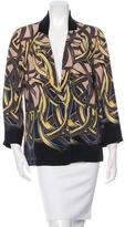 Yigal Azrouel Silk Printed Blazer w/ Tags