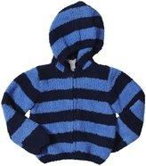 Angel Dear Chenille Zip Hoodie (Toddler) - Navy/Stripe-4T
