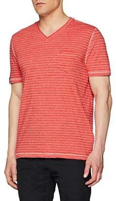 Camel Active Men's V-Neck T-Shirt 1/2 (Blue Ocean 16), L