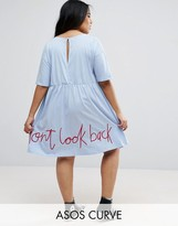 Asos Smock Dress with Don't Look Back Embroidery