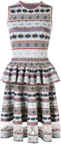 Alexander McQueen jacquard peplum dress - women - Silk/Polyamide/Polyester/Viscose - XS