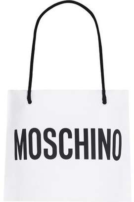 Moschino Cropped Printed Cotton Halterneck Top