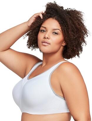 Glamorise Full Figure Plus Size High Impact Wonderwire Sports Bra #9066 Black