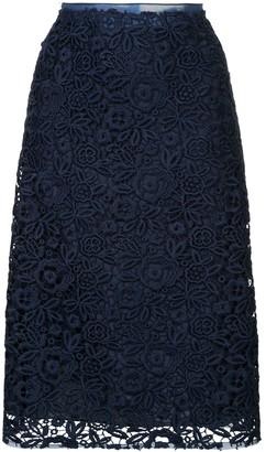 Miu Miu floral lace skirt