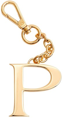 Dooney & Bourke Monogram Pendant Key Chain Letter P