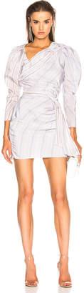 Carmen March CARMEN MARCH Draped Mini Dress in Lilac & Grey | FWRD
