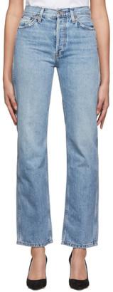 RE/DONE Blue Originals High-Rise Loose Jeans