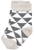 Melton Lancaster Grey Melange Uni Triangle Baby Socks