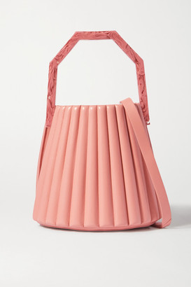 Louise et Cie Alez Small Pleated Leather Bucket Bag - Pink