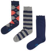 The Tie Bar Graphic Striped Socks (3 PK)