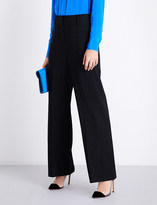 Diane von Furstenberg High-rise wide stretch-wool trousers