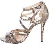 Alexandre Birman Snakeskin Multistap Sandals
