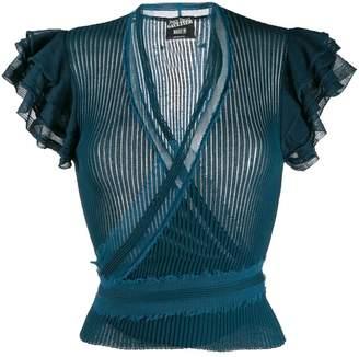 Jean Paul Gaultier Pre-Owned 1990's flounced sleeve blouse