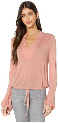 LAmade Prairie Micromodal Top (Coral Pink) Women's Clothing
