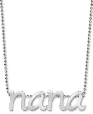 "Alex Woo Nana 16"" Pendant Necklace in Sterling Silver"
