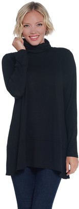 Joan Rivers Classics Collection Joan Rivers Long Sleeve Jersey Knit Turtleneck with Hem Detail